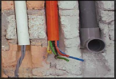 rãnh tường thi công điện nước